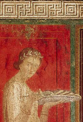 Detail of the Initiate, from the Catechism Scene, North Wall, Oecus 5