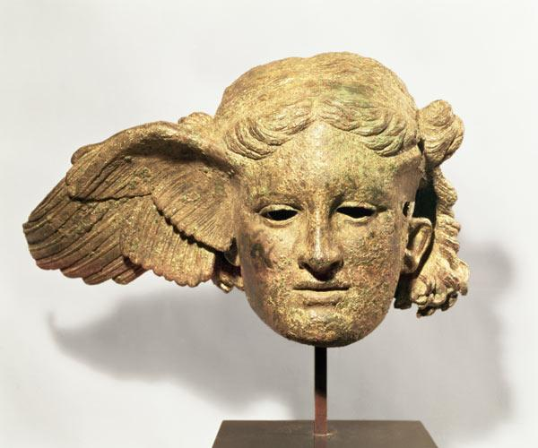 Head of Hypnos, or Sleep, 1st-2nd century AD copy of a Hellenistic original, found at Civitella d'Ar