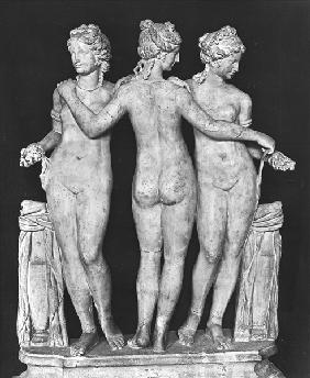 The Three Graces, copy of a 2nd century BC Greek original (marble) (b/w photo) (see 191014 and 19101