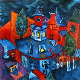 Summer in the City, 2006 (oil on canvas)