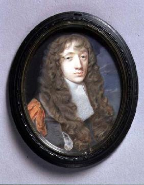 Portrait Miniature of a Young Man in Grey