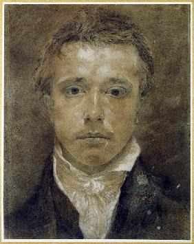 Self Portrait, c.1826 (black chalk heightened with white on paper)