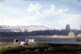 View Across the Floating Harbour, with St. George's, Brandon Hill, the Cathedral