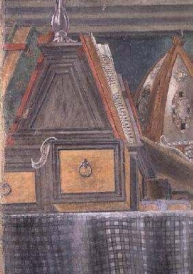 Detail from St. Augustine in his Study