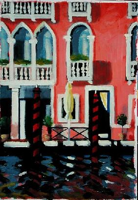 Canal Grande I (oil on card)