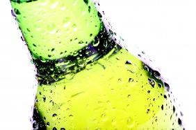 beer bottle abstract isolated