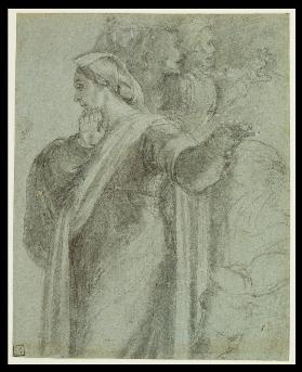 "Study for the figure of Martha in ""the Raising of Lazarus"""