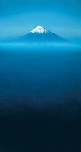Mount Fuji (oil on canvas)