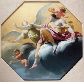 Justice, from a series of the Four Cardinal Virtues on the ceiling of the Queen's bedroom at Saint-G