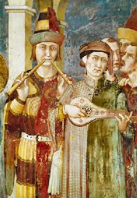 Detail of musicians from the Life of St. Martin