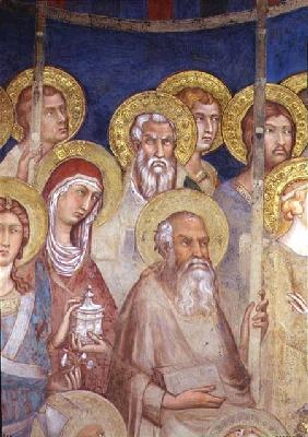 Maesta, detail of saints