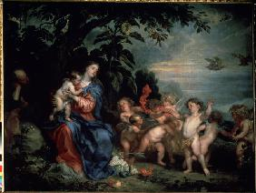 Rest on the Flight into Egypt (Virgin with Partridges)