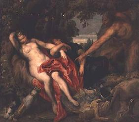 Diana and Endymion discovered by a Satyr