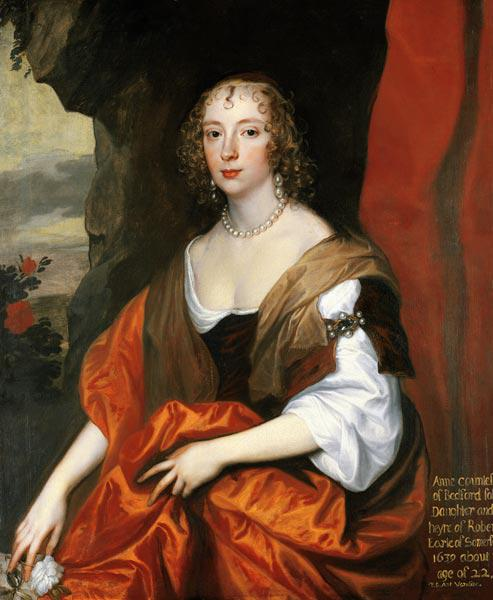 Anne Carr, Countess of Bedford, aged 22