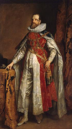 Portrait of Henry Danvers, 1st Earl of Danby (1573-1644), in robes as Knight of the Garter