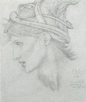 Study for Nimue for 'Merlin and Nimue'