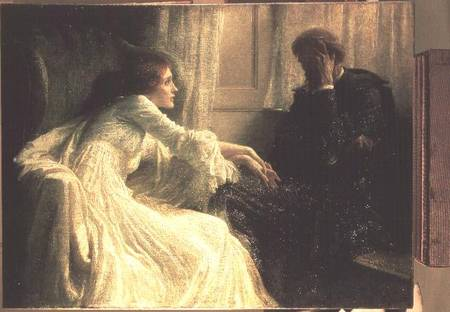 The Confession - Sir Frank Dicksee en reproduction imprimée ou ...