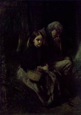 Little Nell and Her Grandfather in the Wood