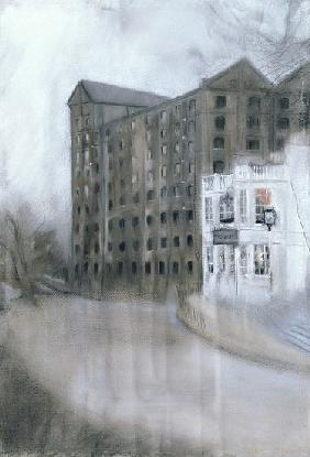 Mortlake Brewery (SW14, The Old Ship) 2005 (pastel on paper)