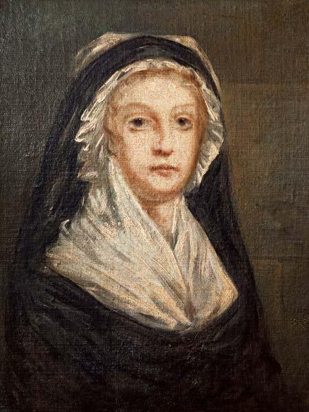 Marie Antoinette (1755-93) at the Concie - Sophie Prieur en reproduction  imprimée ou copie peinte à l'huile sur toile