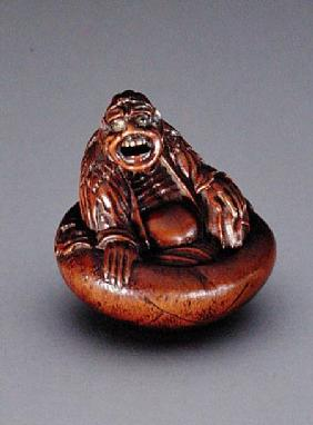 Netsuke depicting a 'sennin'