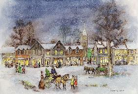 Village Street in the Snow (w/c on paper)
