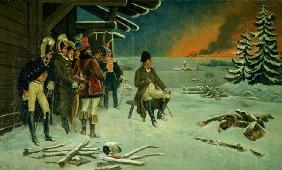 Napoleon at Maly Yaroslavets (oil on canvas)