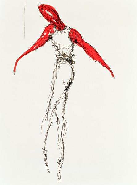 The Dancer, 1997 (ink on paper)