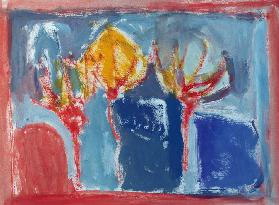 Three Trees, 2002 (acrylic on paper)