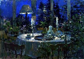 Conservatory by Candlelight, 1998 (oil on canvas)