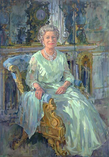 Her Majesty the Queen, 1996 (oil on canvas)