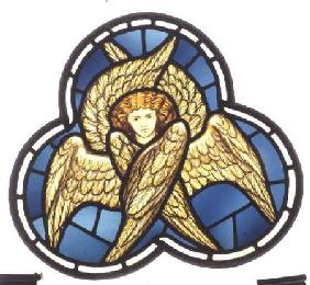 Many-winged Angel, stained glass window removed from the east window of St. James' Church, Brighouse