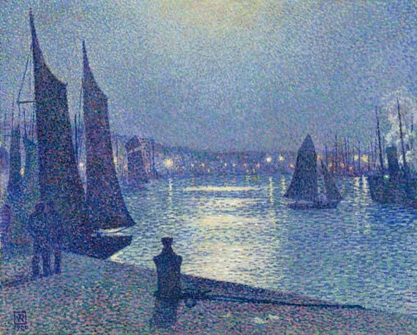 moonlit night in Boulogne