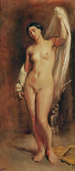 Standing Female Nude, study for the central figure of ''The Tepidarium''