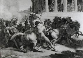 Study for the Race of the Barbarian Horses