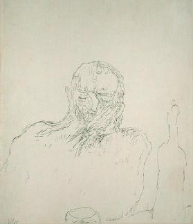 The Drinker, 1909 (no 35) (pen on paper on carboard)