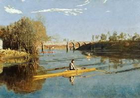 Max Schmitt in a Single Scull 1871