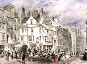 High Street, Edinburgh, showing John Knox's House