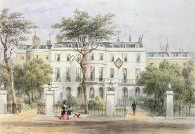 West front of Sir Robert Peel's House in Privy Garden (1788-1850) 1851 (w/c on paper)