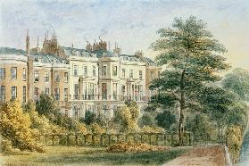 East front of Sir Robert Peel''s House in Privy Garden (1788-1850) 1851
