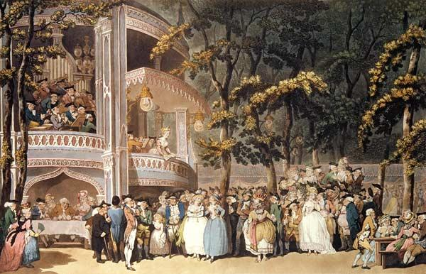 Vauxhall Gardens from Ackermann's 'Microcosm of London'