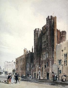 North front to St.James''s Palace, c.1850