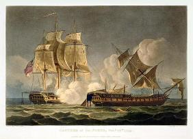 Capture of La Forte, February 28th 1799, engraved by Thomas Sutherland for J. Jenkins's 'Naval Achie