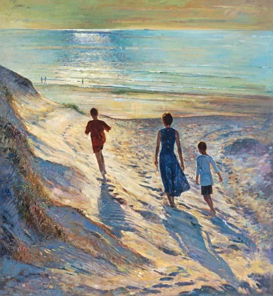 Beach Walk, 1994 (oil on canvas)