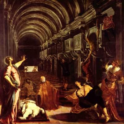 La d couverte du corps de saint marc tintoretto eigentl - Lessive saint marc mur ...