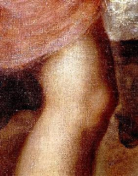 The Death of Actaeon, detail of Diana's knee
