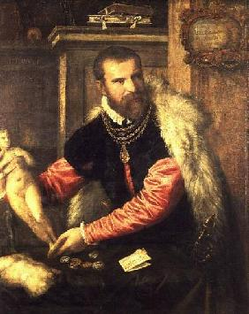Jacopo Strada (1515-88) art expert and buyer of objet d'art, working for Ferdinand I, Maximilian II