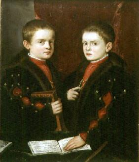 Portrait of Gerolamo Melchiorre (b.1536) and his brother Francesco Santo da Pesaro (b.1537)