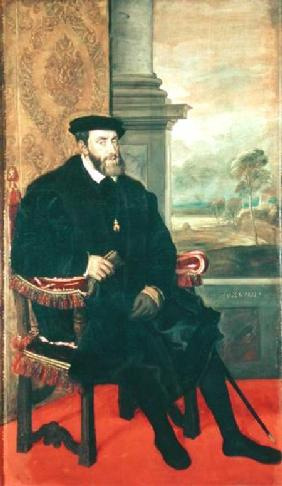 Seated Portrait of Emperor Charles V (1488-1576)