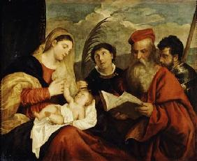 Madonna and Child with SS. Stephen, Jerome and Maurice